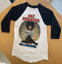 (Vintage) 1983 Pat Benatar Get Nervous Tour Authentic Concert T Shirt Raglan (S)