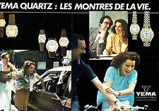 PUBLICITE ADVERTISING 027  1981  montres quartz Yema  International (2p)
