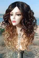 Perücke mit Skin Silk Haut Top Wig blond braun schwarz ombre lang wie Echthaar