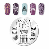 Nail Art Stamping Plate Image Decoration Necklace Drama Gems Jewels Lace (ND37)