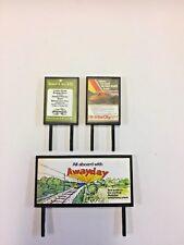 4 Model Railway Billboards / Posters - Trackside Signs - OO Gauge - Pack 159