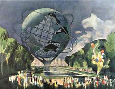 Millard Owen Sheets - Unisphere Worlds Fail New York - 13 x 19 Print 1964