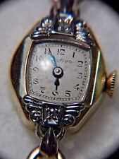 Vintage Ladies BULOVA 14K Yellow Gold Diamonds Watch G483002 Swiss46 6AH 17Jewel