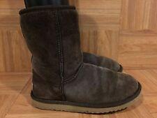 COZY!❤️ UGG Australia Classic Short Boots Brown S/N 5825 Sz 6