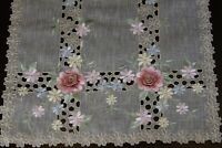 Organza Embroidered Lace Rose Table Placemat Runner Dresser Scarf Wedding Party