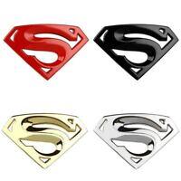 New Motorcycle Larger Badge Emblem Superman Logo 3D Car Sticker Auto Decals