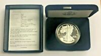Silver 1oz American Eagle $1 Silver Proof US Eagle with Box & Cert Random Date