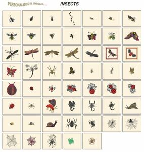 INSECTS. CD or USB machine embroidery designs files most formats BEES LADYBIRDS