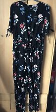 New Look Black Floral Jumpsuit Brand New Size 12