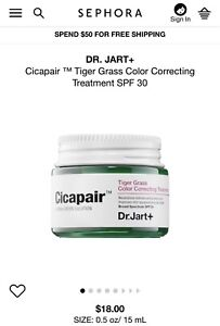 Dr. Jart+ Cicapair Tiger Grass Color Correcting Treatment SPF30 15mL/ 0.5 fl. oz