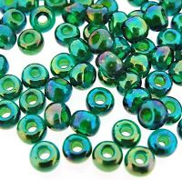 Miyuki Round Seed Beads Rocaille's Size 6/0 Chartreuse/ Green AB 20g-Tube 6-354