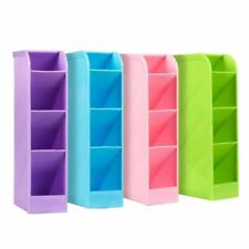 School Desk Pen Caddy Organizer - 4 Piece Set School Equipment Storage Holder