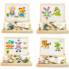 New Animal Drawing Writing Board Magnetic Puzzle Double Easel Sketchpad Toy OK