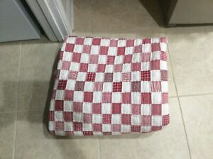 """Pottery Barn Kids Twin Quilt Red White Gingham  - 68"""" x 80"""" - Pre-Owned"""