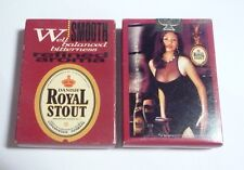 Malaysia Playing Cards Royal Stout Beer Refined Aroma Carlsberg 2001 Sexy Lady