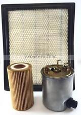JEEP GRAND CHEROKEE AIR OIL FUEL FILTER KIT   2.7L CRD TURBO DIESEL WJ/WG OM612
