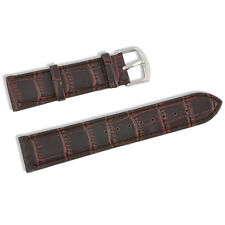 Genuine Leather Wrist Watch Band Strap Black/Brown Women Men Steel Buckle Unisex