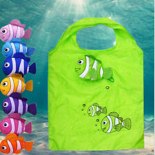 Little Fish Reusable Folding Shopping  Bag Travel Grocery Bags Tote M&C