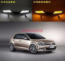 2x LED Driving Daytime Running Day Fog Lamp Light For VW Golf 7 MK7 2013-2016
