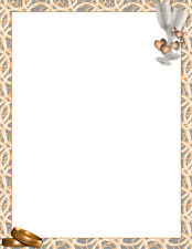 NEW Wedding Bands & Champagne Printable Stationery Paper 26 Sheets