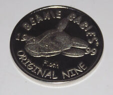 """Ty Beanie Baby Original Nine Coin Flash 1.5"""" 1999 Silver Colored Official Club"""