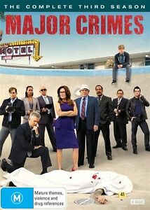 MAJOR CRIMES : Season 3 : DVD Region 4 (c2)