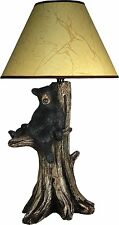 "Black Bear Table Lamp Light Rustic Cabin Table Desk Light Lodge Tree 27 "" New"