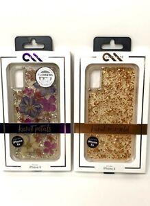 x2 Case Mate Karate Iphone X & Xs Phone Case Flower Petal & Rosegold New