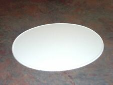 "White 9"" X 11"" Oval Number Plate Side or Front Vintage MX Road Race AMA AHRMA"