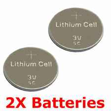 2 X Key Fob Batteries For Saab 93 900 Key Remote Fob CR2032