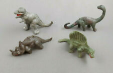 4 Ajax Hong Kong Copies Dinosaurs 1960s Vintage Marbled Plastic Prehistoric Lot