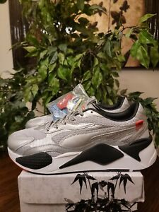 Puma Men's RS-X3 WC Running Sneakers 374808-02 Gray/Black Size 9.5