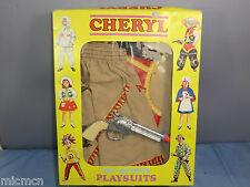 """VINTAGE Cheryl """"Play vestiti"""" modello No.061 Wild West """"Cowgirl Vestito"""" VN Nuovo di zecca con scatola"""