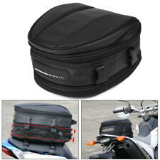 Motorcycle Rear Seat Saddle Pack  Shoulder Carry Bag with Cover Large Capacity