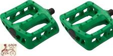 "ODYSSEY TWISTED PC KELLY GREEN 9/16"" 3-PIECE CRANK BMX BICYCLE PEDALS"