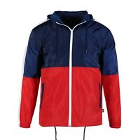 Men Hood Zip up Water Resistant Windproof Windbreaker Outdoor Jacket Gifts