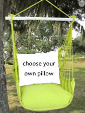 MAGNOLIA CASUAL HAMMOCK SWING SET - LIME GREEN Choose Your Pillow