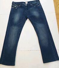 VTG Mens True Religion Straight RAINBOW Billy World Tower Flap Jeans 32 W34X27.5
