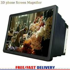 3D HD Mobile Cell Phone Screen Amplifier Video Magnifier Bracket Stand 8.2 Inch