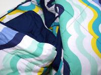 Pottery Barn Teen Multi Colors Groovy Wave Full Queen Comforter Sheet Set Shams