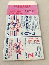 1955 World Series Game 2 Ticket Stub Brooklyn Dodgers Yankees Byrne Complete Gm