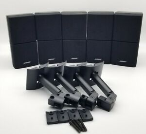 Bose Double Cube Speakers Lot Of 5 (4 Wall Mount)