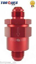 Un -10 (10an 10) Rojo Anodizado Billet aluminio de una manera / válvula de retención