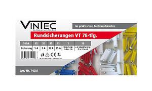 KFZ Rundsicherungen Vintec 78tlg. 5-25A Autosicherungen Sicherungen Oldtimer NEU