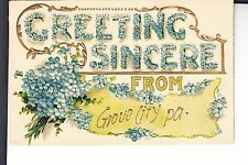 Embossed Greeting Sincere from Grove City PA Penn