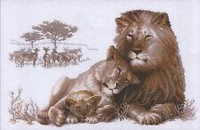 Lion Paradise Premium Counted Cross Stitch Kit