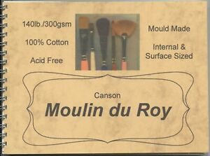 "A pad of 10 sheets of ""MOULIN DU ROY WATERCOLOUR PAPER ""  140lb. / 300gsm."