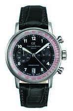 Carl von Zeyten Lederband Chronograph Herren Chrono Neu Schwarzenbach CVZ0020BK