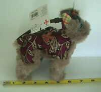 Fuzzy Nation Yorkie Wristlet Coin Purse & Charm Plush w/Zipper NWT