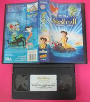 VHS film LA SIRENETTA II Ritorno agli abissi 2000 WALT DISNEY 4845 (F155) no dvd